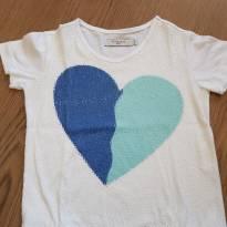 Blusa coração em lantejoulas - 24 a 36 meses - Richards Kids