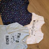 Trio camisetinhas manga longa - 0 a 3 meses - Young dimension