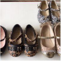 lote sapato tipo boneca pampili bibi - 4 pares tam20,21,22