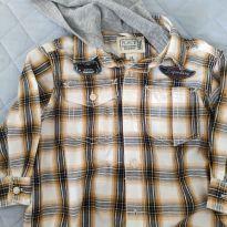 Camisa Xadrez com touca - 1 ano - Place