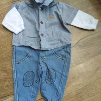 Macacão de Bebe Menino Maglian - 3 a 6 meses - Maglian Baby