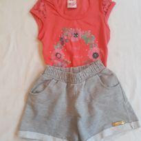 Conjunto blusinha e shorts para menina - 6 anos - Abrange