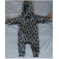 Macacão com capuz e ziper - 0 a 3 meses - Minimalista Baby