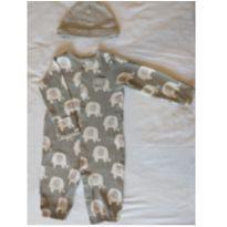 Macacão com luva Elefante, com touca - 3 meses - Carter`s