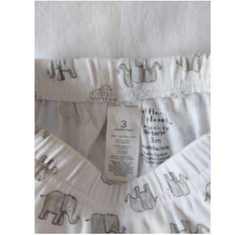 2 Calças Elefante/Listras - Orgánico - 0 a 3 meses - Carter`s