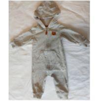 Macacão com ziper e capuz - Ursinho - 6 meses - Carter`s