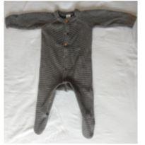 Macacão de Fio, com pézinho e botões - 0 a 3 meses - Baby Club