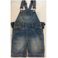 Jardineira jeans curta - 6 a 9 meses - Jako-o