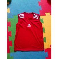 Regata Adidas vermelha Tamanho 10 - 9 anos - Não informada
