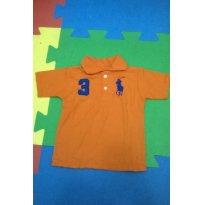 Pólo laranja Tam 02 réplica - 18 meses - Polo