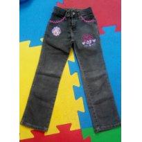 Calça jeans bordada tam 06 - 5 anos - Akiyoshi