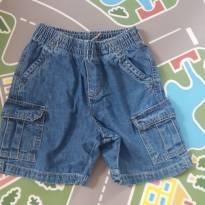 Bermuda jeans tamanho 24 meses - 2 anos - Faded Glory (EUA)