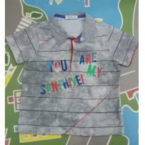 Camisa  polo cinza manchada Tam  02 - 2 anos - Tyrol