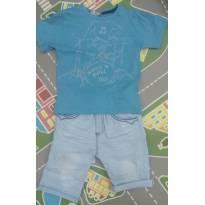 Conjunto camisa e bermuda jeans - 3 anos - Kiki