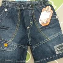 Bermuda jeans  tam G (18 meses) - 18 meses - Bielzinho