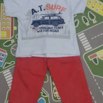 Conjunto Calça sarja coral e camiseta - 24 a 36 meses - Style (EUA)
