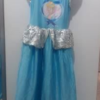 Vestido Fantasia  Cinderela tam 08 - 8 anos - Outros