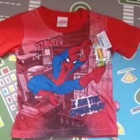 Camiseta homem aranha tam 03 - 3 anos - MARVEL