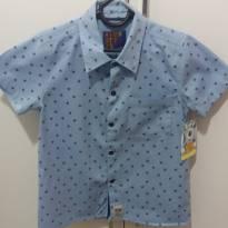 Camisa azul clara com detalhes em marinho tam 06 - 6 anos - Boys