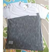 Camiseta mesclada cinza Tam 04 - 4 anos - Caramelo