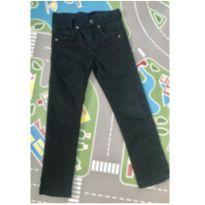 Calça de sarja preta tam 4 - 4 anos - Vei boy jeans wear
