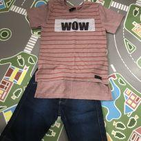 Conjunto camiseta mullet e bermuda jeans - 6 anos - PerfectBoys