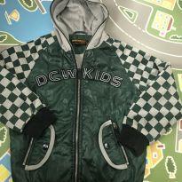 Jaqueta com goro cinza e verde forrada de pelo - 8 anos - Outras