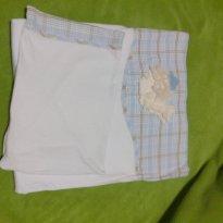 Kit lençol e fronha bordada em pelúcia - Sem faixa etaria - Não informada