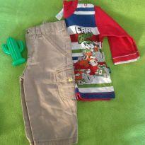Calça GAP e Camiseta M/L - 3 a 6 meses - Baby Gap