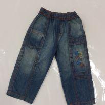 Calça jeans bebê - 6 a 9 meses - Não informada