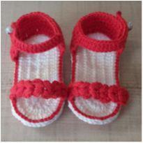 Sandalia bebê - 01 - Trabalho manual