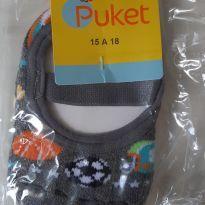 Sapatilha antiderrapante - 6 a 9 meses - Puket