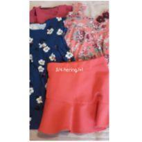 Look fashion de menina tm 3 - 3 anos - Brandili elian e hering