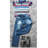 Tommy pólo com jeans - 4 anos - Tommy Hilfiger