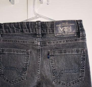 calca infantil jeans com lavagem black estonado - 6 anos - VR Kids