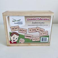 Aprenda subtracao brincando com domino educativo de matematica - Sem faixa etaria - Não informada
