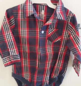 Camisa xadrez - 6 a 9 meses - Baby Gap