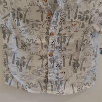 Camisa zoo - 9 a 12 meses - C&A