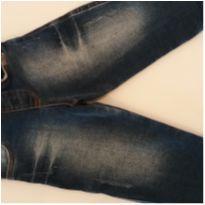 Calça jeans elastano - 6 a 9 meses - Onda Marinha