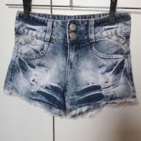 Short Jeans Fashion - 6 anos - Figurinha