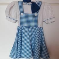Vestido Dorothy - Mágico de Oz - 4 anos - Rubie`s - USA