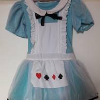 Vestido Alice no País das Maravilhas - Importado - 5 anos - Le Choue