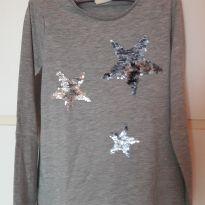 T-Shirt Estrelas Bordadas - 9 anos - Zara