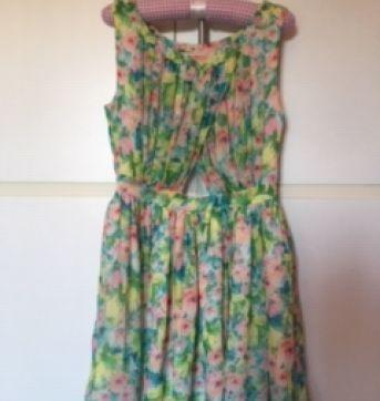 Vestido Floral - 7 anos - Zara