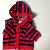 Conjuntinho em Plush -3 a 6 meses - casaco e calça - 3 a 6 meses - Baby fashion