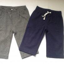 Calças Carter`s em malha, cinza e azul marinho-6meses - 6 meses - Carter`s