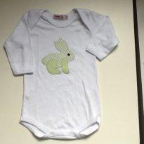 Body com coelhinho - 6 a 9 meses - pijamania
