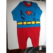 Fantasia super homem - 6 a 9 meses - TM & DC COMICS