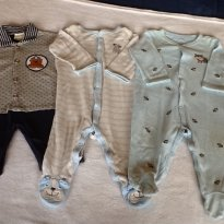 3 macaquinhos Carter`s/Kiguri - 6 meses - Póim e Carter`s