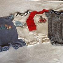 4 bodies Carter`s 6 m - 6 meses - Carter`s e Outras